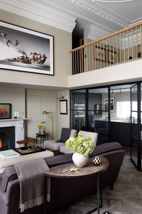 wohnzimmer ideen in schwarz und grau