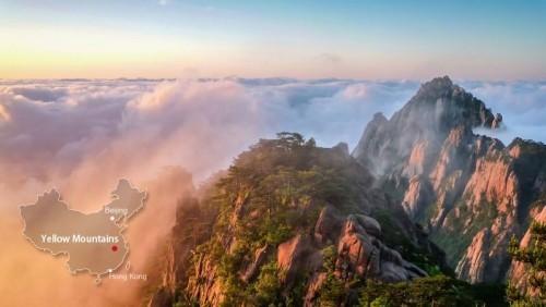 China besuchen die Gelben Berge atemberaubend schön beliebtes Reiseziel
