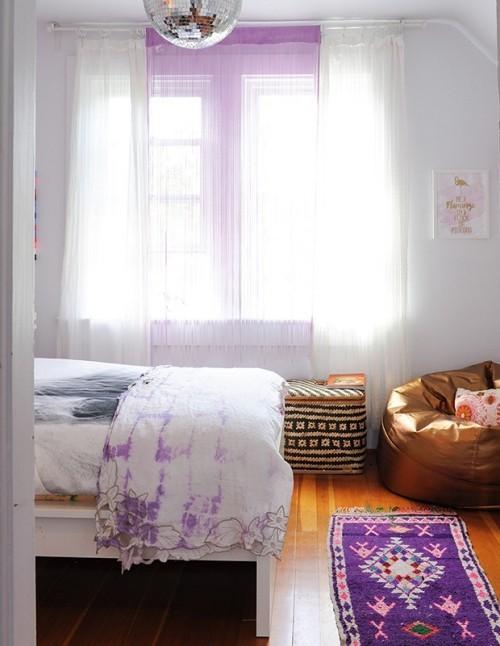 Flieder Farbe im Schlafzimmer einige Akzente in Flieder sehr romantisch
