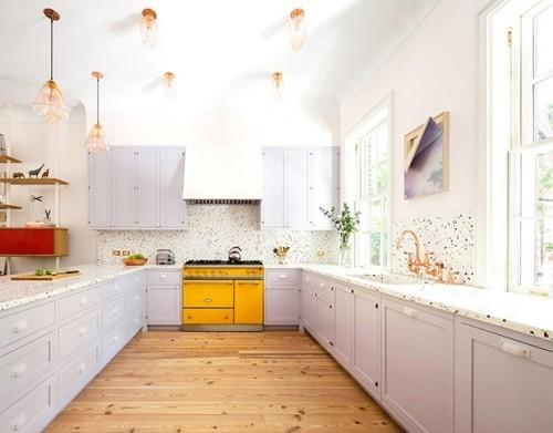 Flieder Farbe in der Küche Küchenschränke