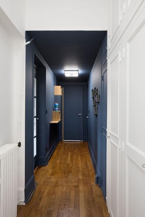 Flur gestalten - eingebaute Garderobe viel Stauraum