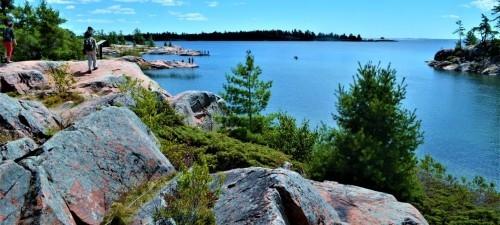 Georgian Bay Ontario Kanada Naturgenuss pur viel blaues Wasser Felsen