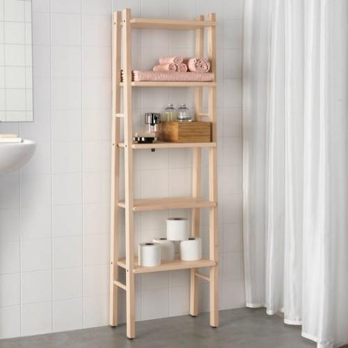 Ikea Katalog 2019 neue Badaccessoires Regal aus Holz