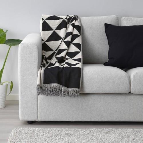 Ikea Katalog Johanne Throw Überwurfdecke ideal für kühlere Abende