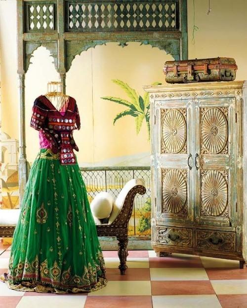 Retro-und Ethno-Elemente im Einklang Raumgestaltung Style Indian Summer