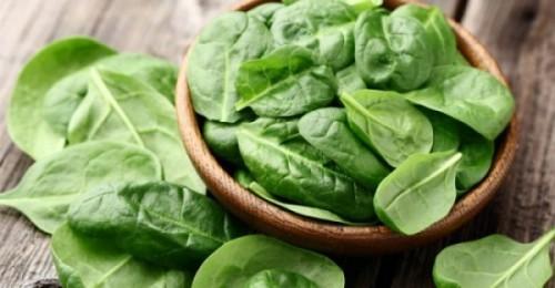 Spinat Superfood kann roh oder gekocht gegessen werden man bleibt stark und jung