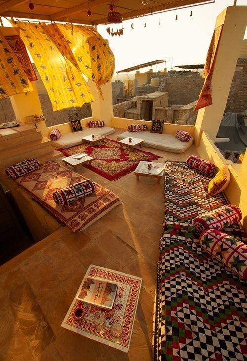 Wohnzimmer draußen im Style Indian Summer