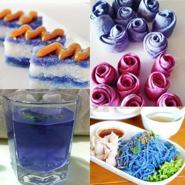 blaue klitorie blaues getränk ideen