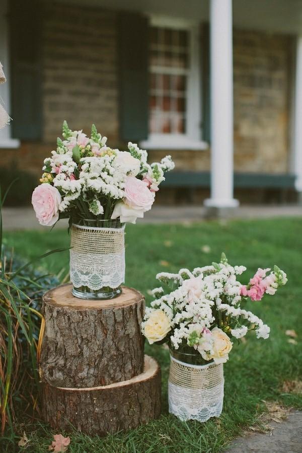 diy vasen scheunenhochzeit