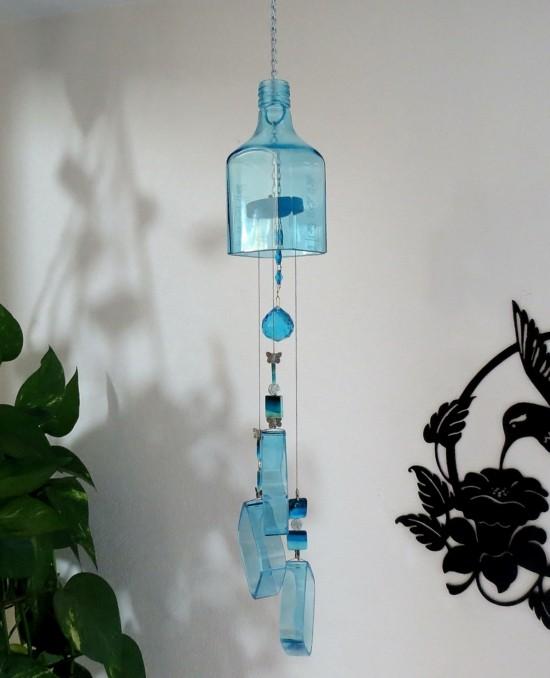 flasche windspiel basteln