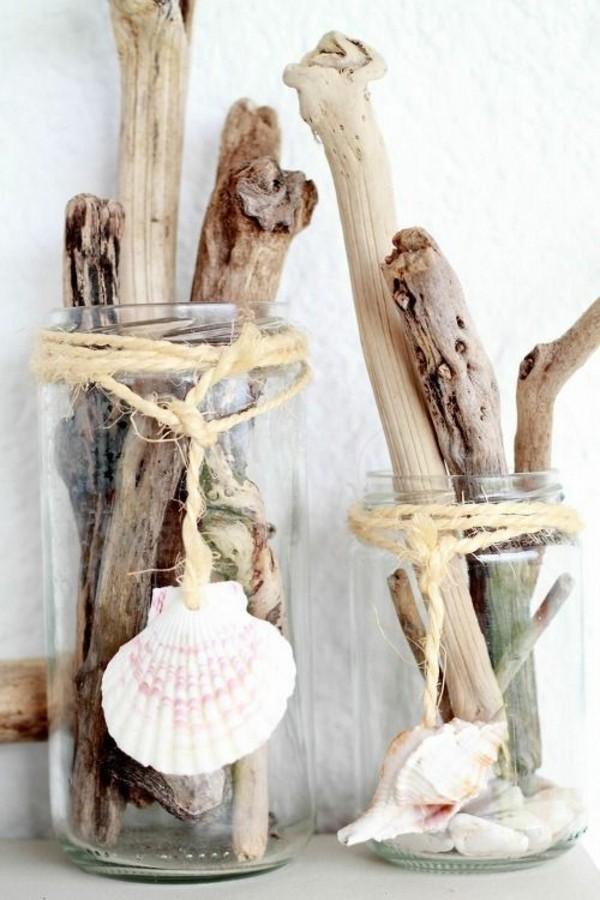 günstige tischdeko mit naturmaterialien