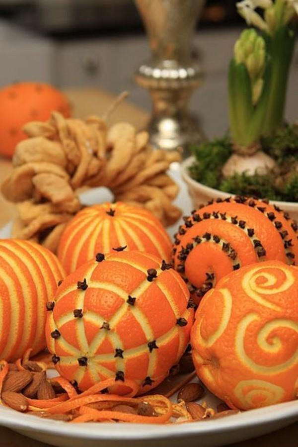 günstige tischdeko orange gewürznelken