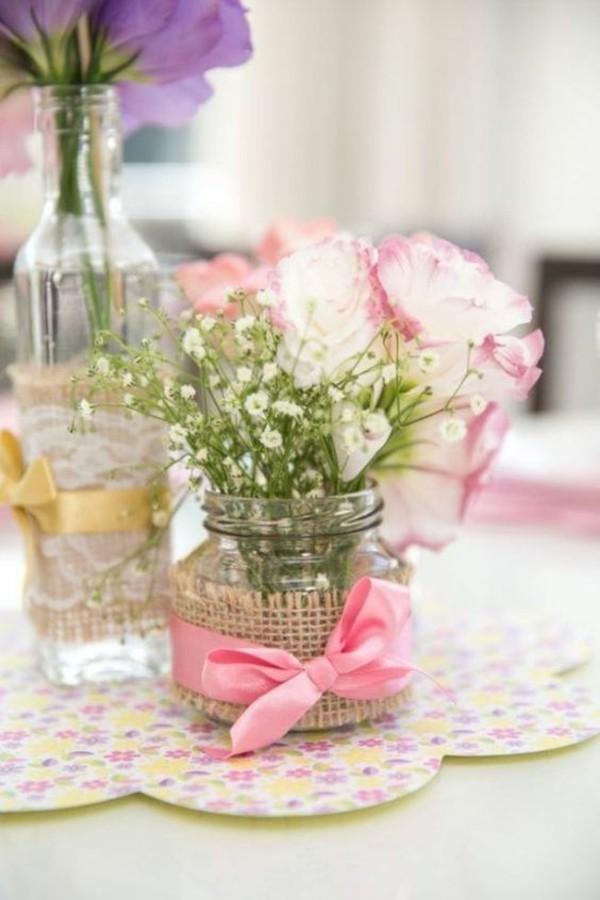 günstige tischdeko vasen selber machen
