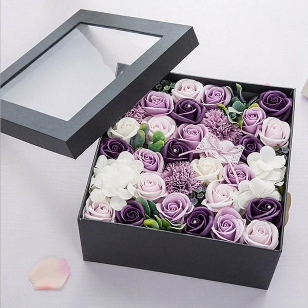 geschenkbox idee rosen konservieren