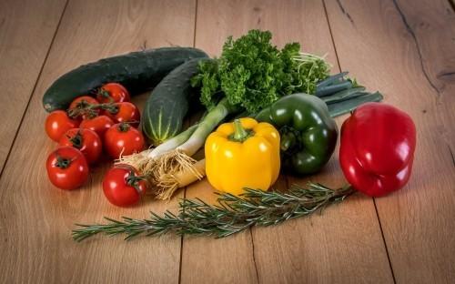 gesundes essen viele farben