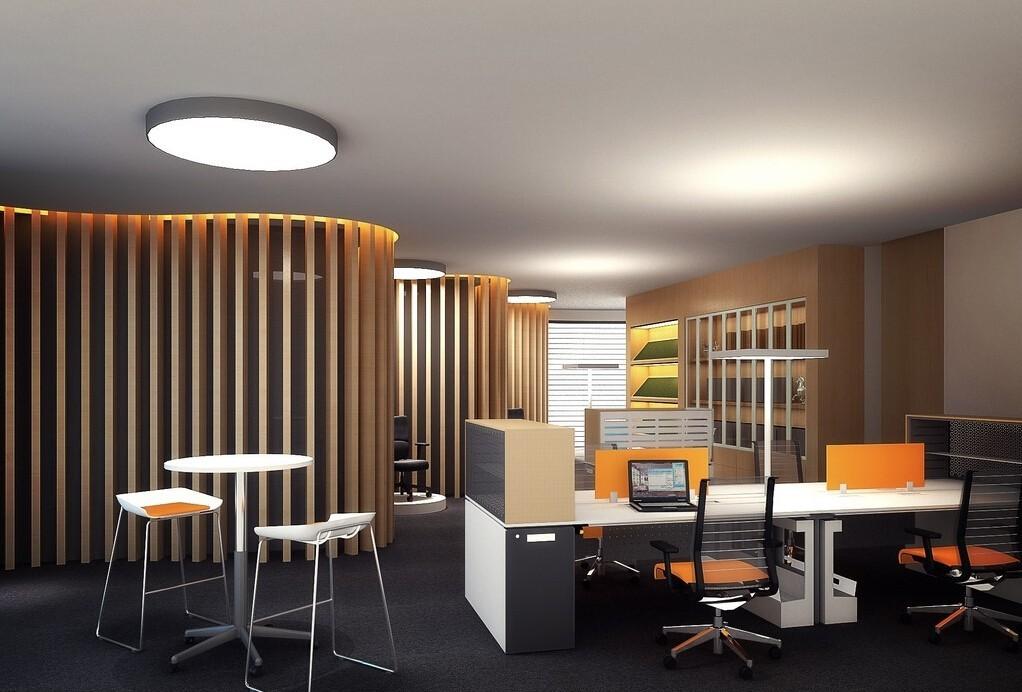 gewölbte formen für die büroeinrichtung