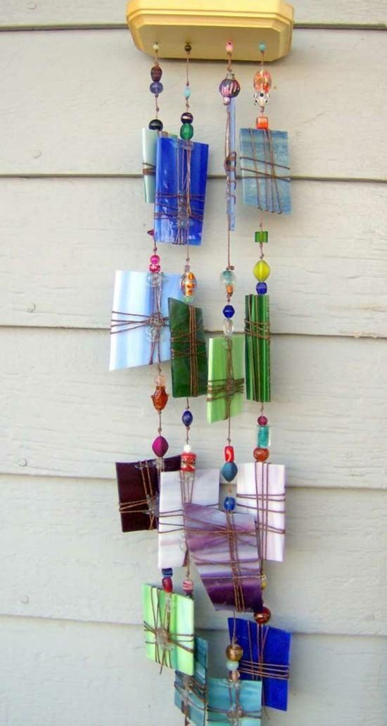 glas windspiel basteln