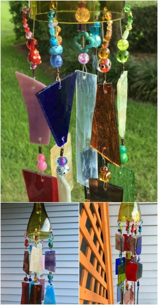 glasscherben windspiel basteln