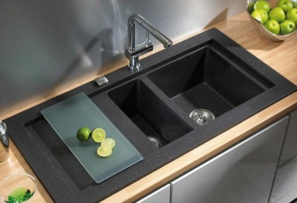 große küchenspüle granit