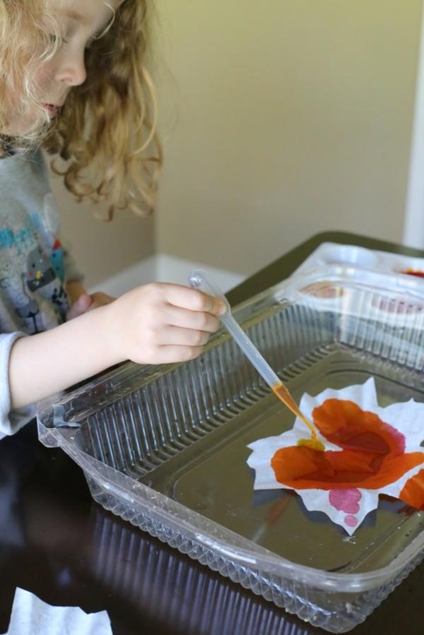 herbstbasteln mit herbstblättern farben