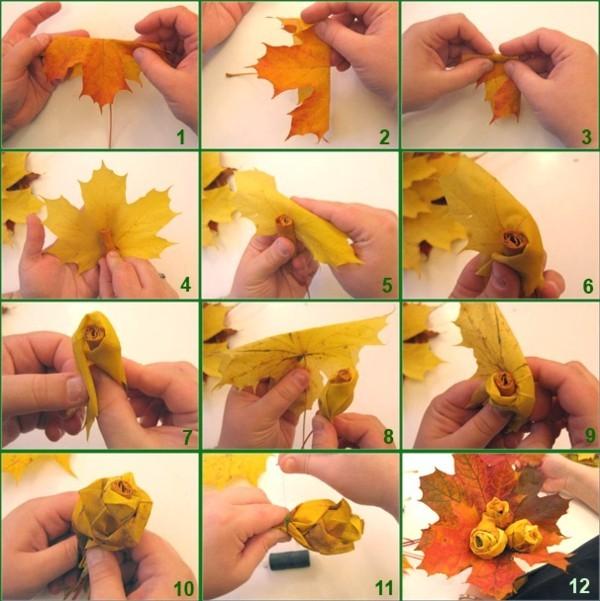 herbstdeko aus naturmaterialien selber machen herbstblätter