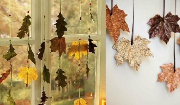 Herbstdeko basteln mit kindern 42 ganz einfache und - Herbstdeko basteln fur fenster ...