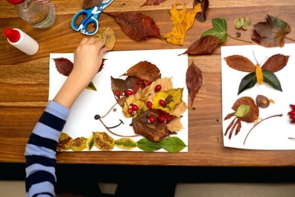 herbstdeko basteln mit kindern herbstblätter