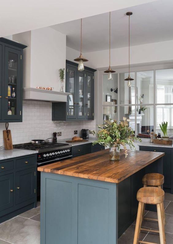 küchenarbeitsplatte für eine moderne kücheninsel
