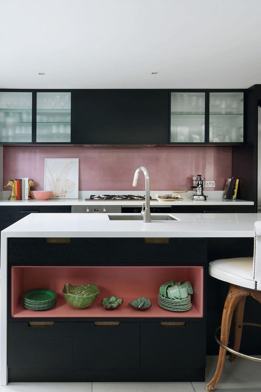 küchenarbeitsplatte in glanzvoller weißer farbe