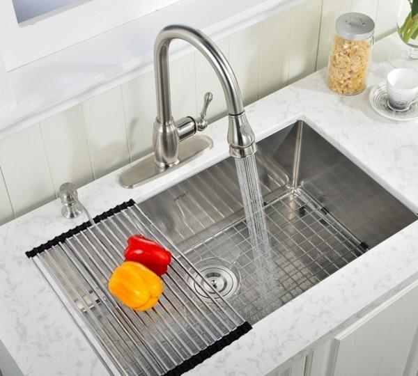 Küchenspüle Edelstahl Gitter