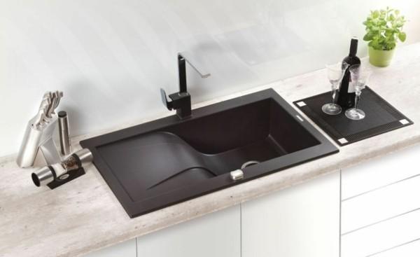 küchenspüle granit rechteckig