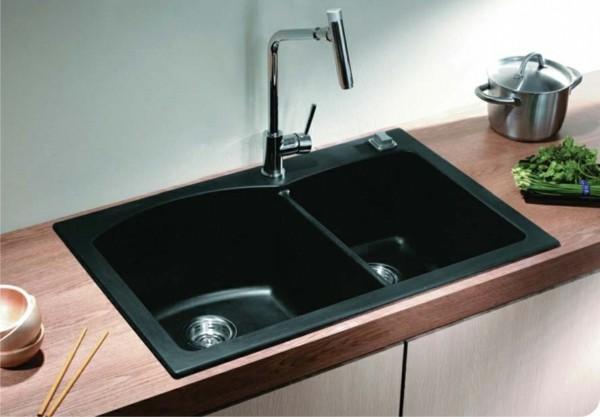 küchenspüle granit schwarz