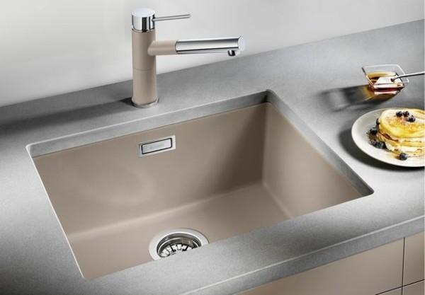 kleine küchenspüle granit rechteckige form