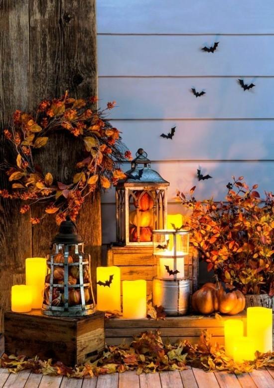 laternen halloween herbstdeko für draußen