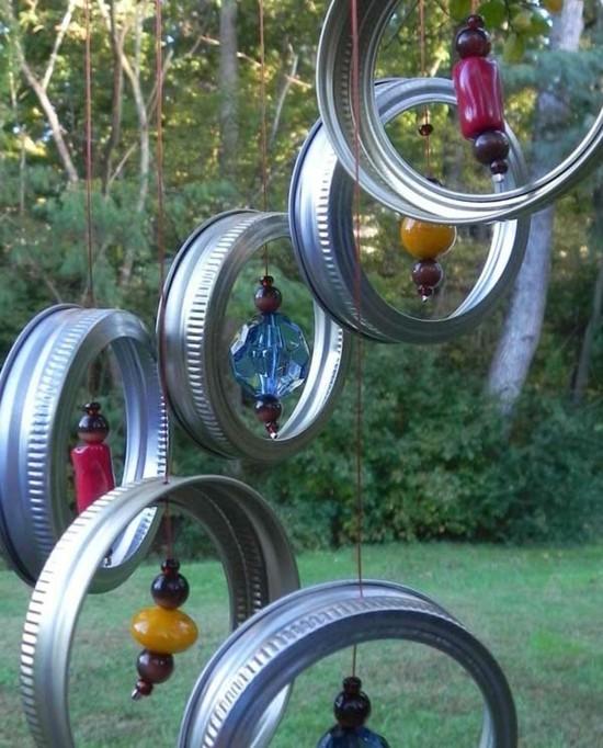 metallene deckel windspiel basteln