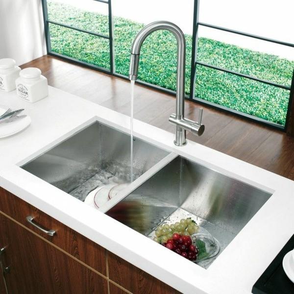 moderne küchenspüle edelstahl