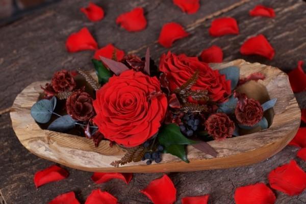 rosen konservieren haltbare tischdeko selber machen