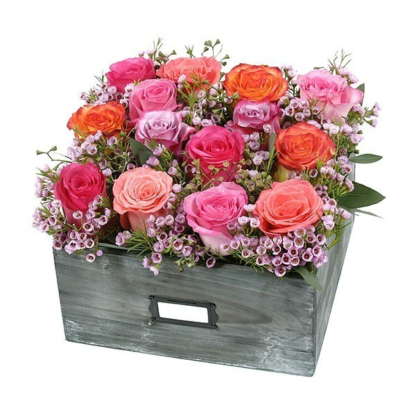 rosen konservieren tischdeko arrangieren