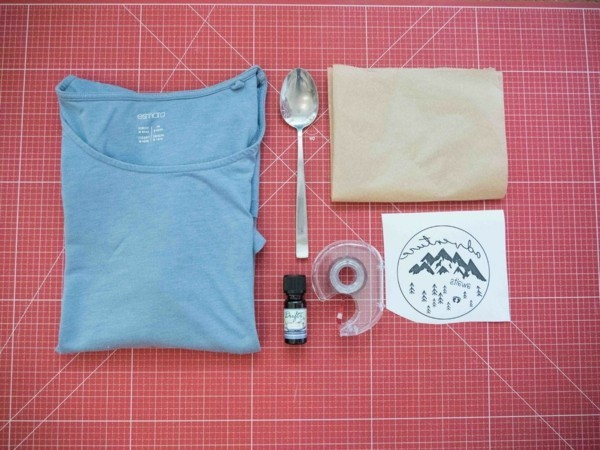 t-shirt lavendeldruck