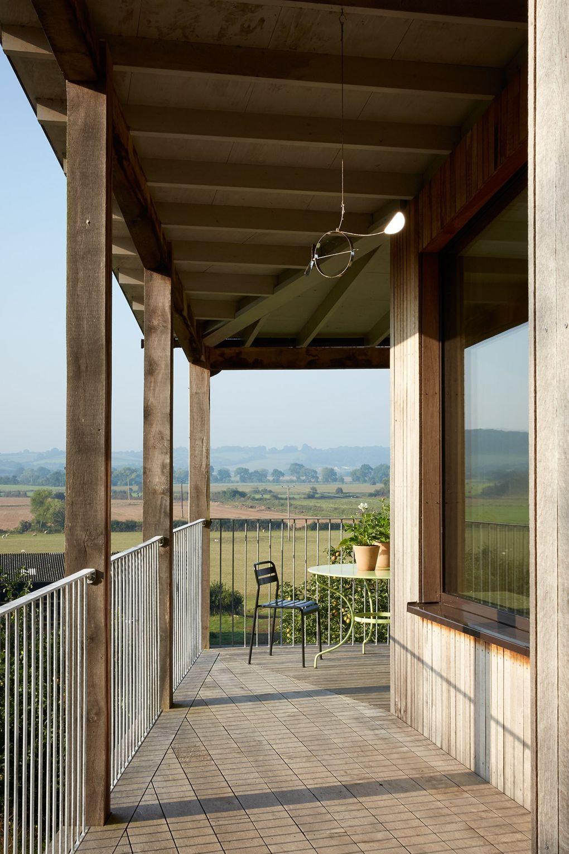 traumhaus balkon mit schöner aussicht