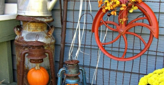 vintage upcycling herbstdeko für draußen
