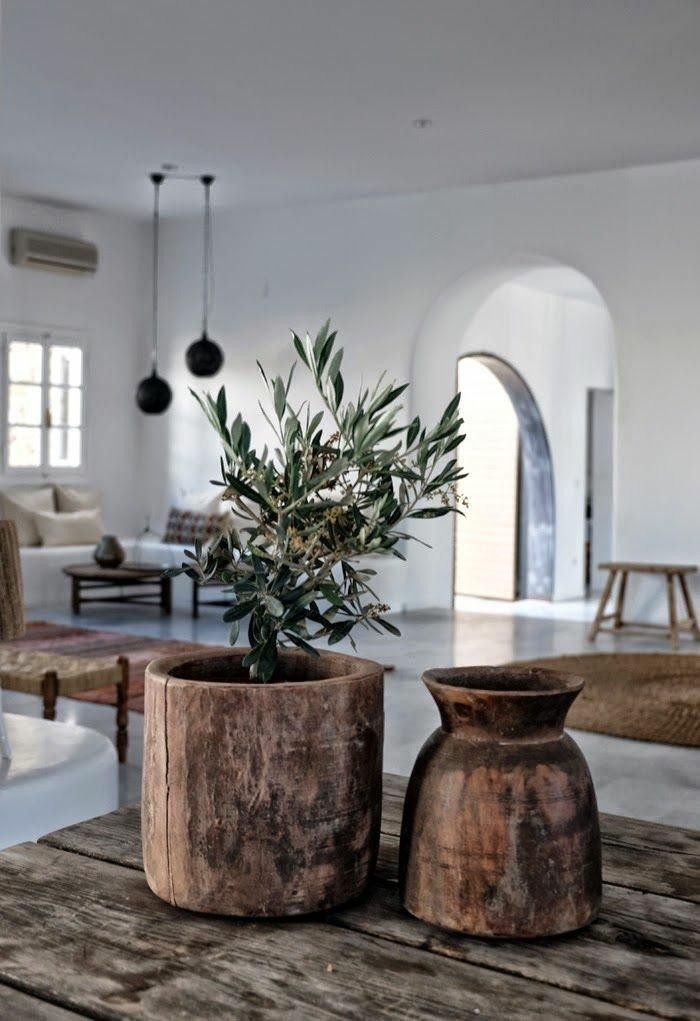 wabi sabi wohnzimmer inspiration vase und blumentopf