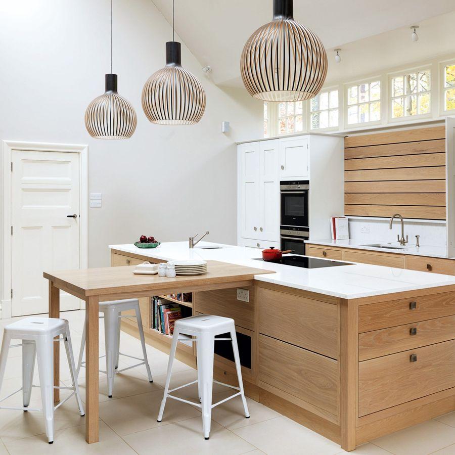 weiß und holz-braun küchenarbeitsplatte