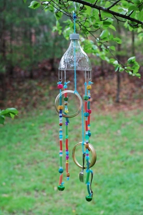 windspiel basteln aus pet flasche