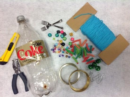 windspiel basteln aus pet flaschen materialien