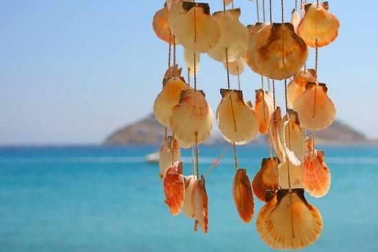 windspiel basteln mit muscheln