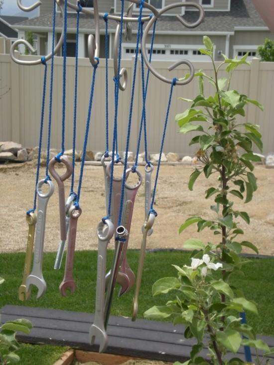 windspiel basteln werkzeuge