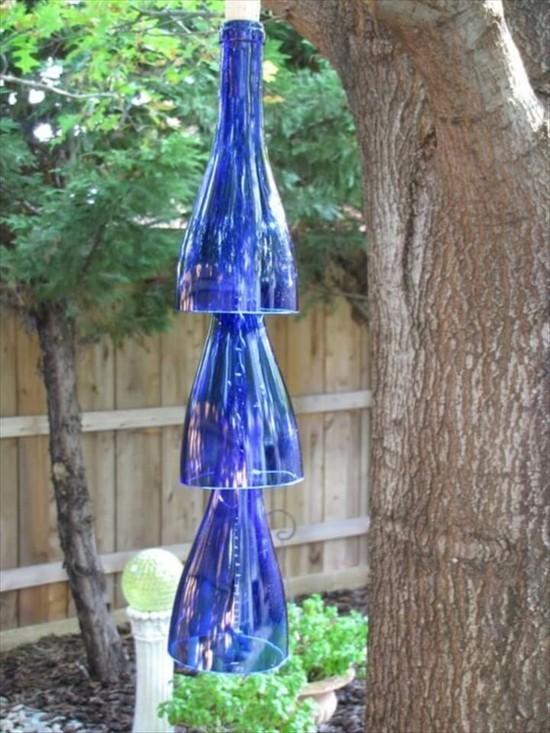 windspiel mit glasflaschen