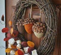 Ein bunter Herbstkranz  ist ein Muss in der Herbstdeko