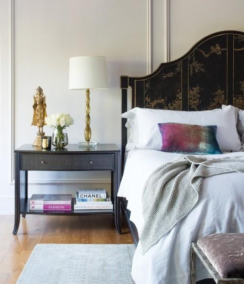 Kleine Raumdetails machen das Schlafzimmer gemütlich